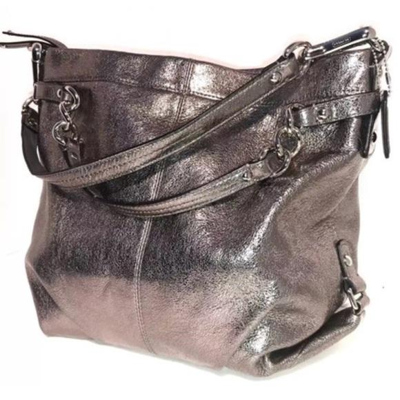 bf3ed41a026 Coach Bags   Brooke Convertible Metallic Leather Hobo Bag   Poshmark